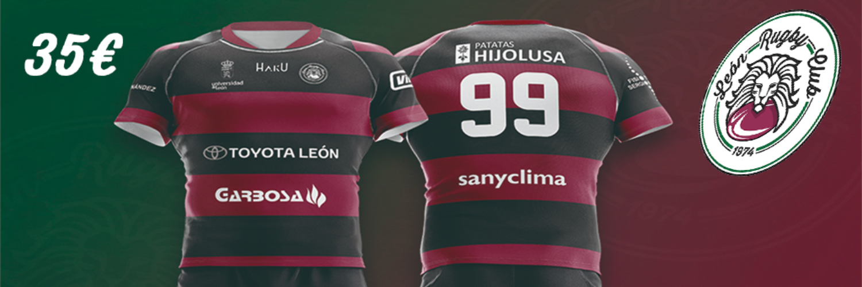 No te quedes sin tu camiseta de la primera equipación del León Rugby Club