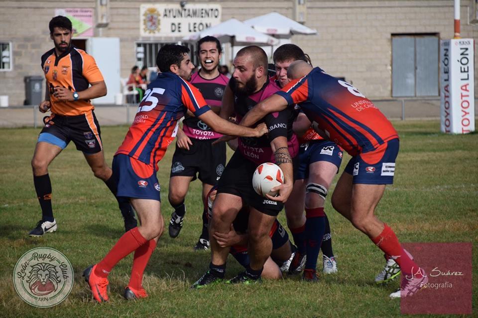 Sábado intenso para el sénior y la cantera del León Rugby Club en el Área Deportiva de Puente Castro