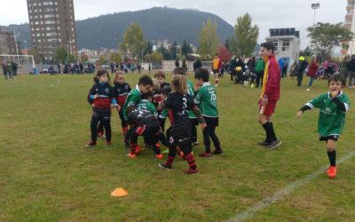Los 'peques' de la Escuela ROBHER ASESORES LEÓN RC disfrutan en Ponferrada