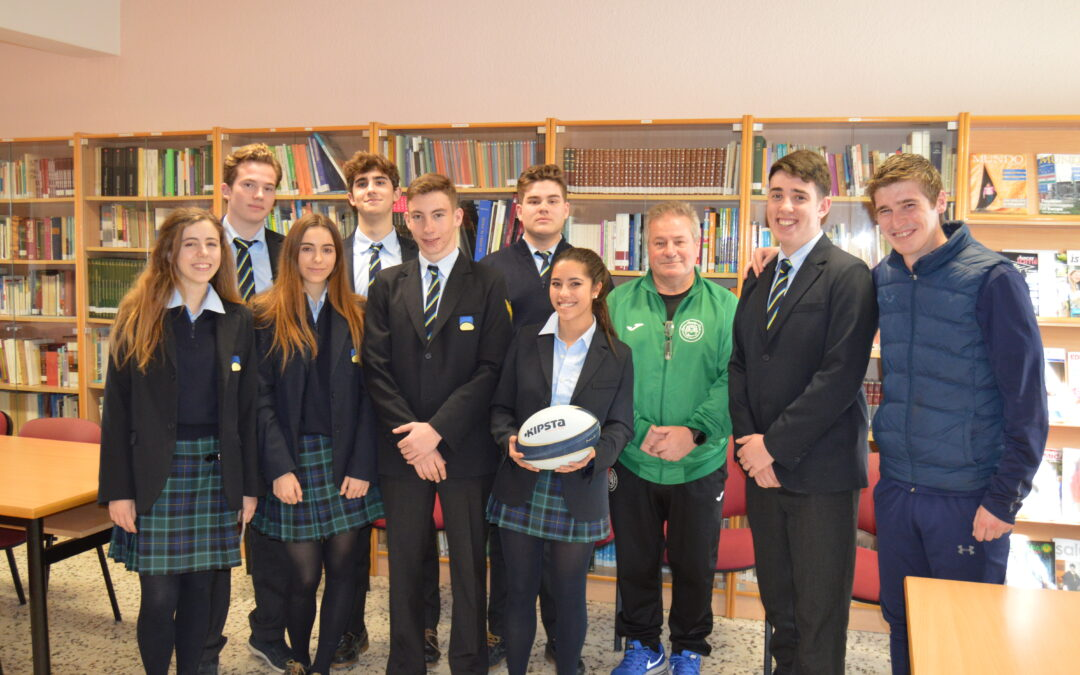 De la mano del León Rugby Club, el Rugby se convierte en el deporte oficial del Colegio Peñacorada