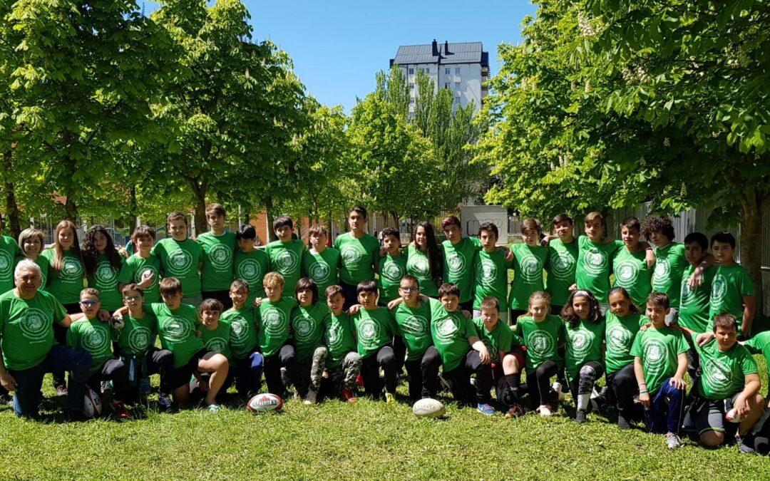 La Escuela Robher Asesores León Rugby Club disfruta y deja excelentes sensaciones en la XI Araba Rugby Cup