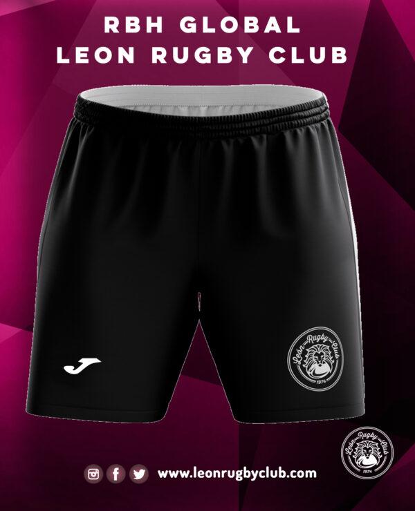 Pantalón negro corto de Rugby RBH Global León Rugby Club