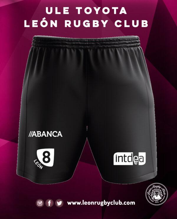 Pantalón de rugby negro corto trasera 19-20