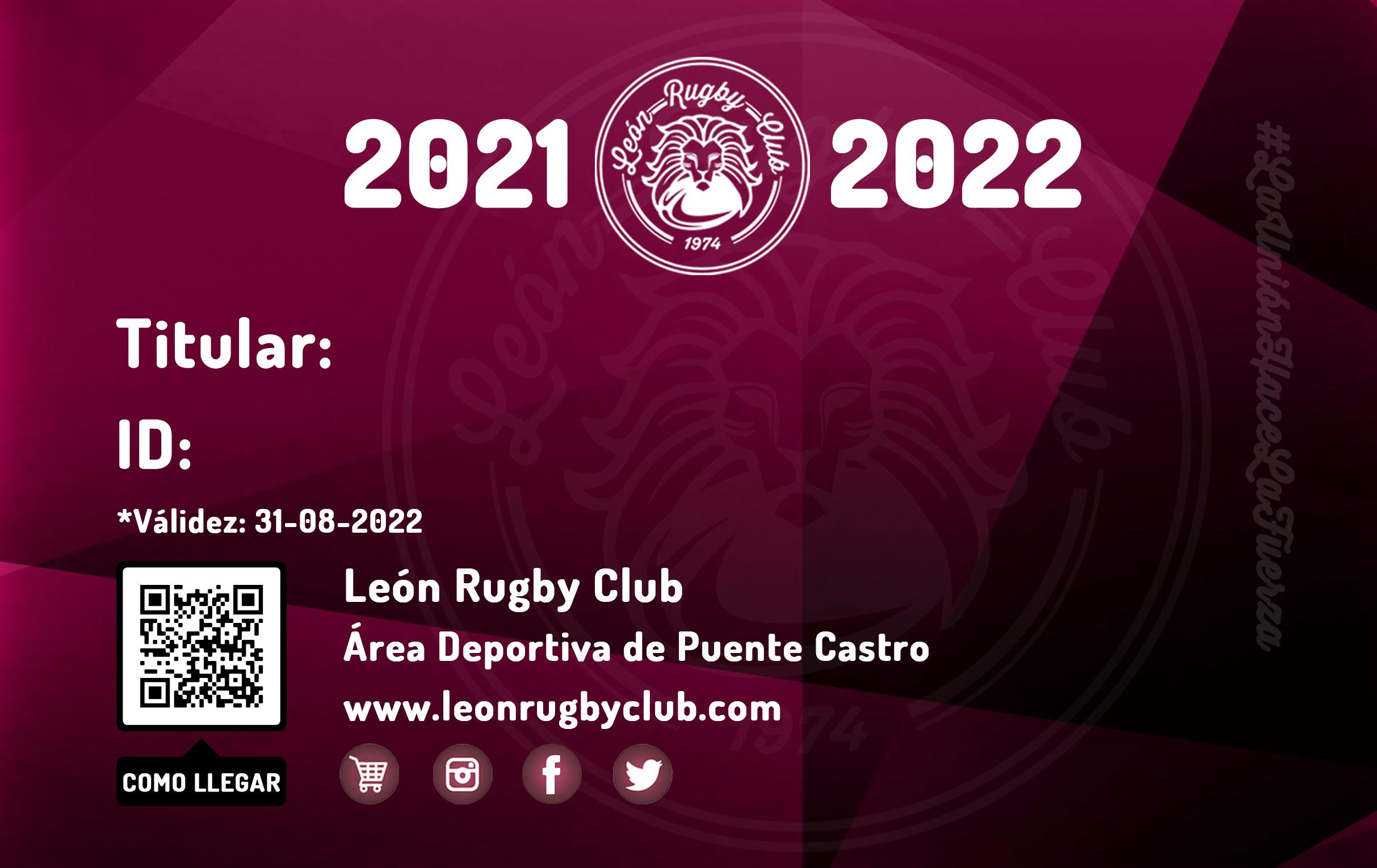 Carnet 2021-2022 León Rugby Club